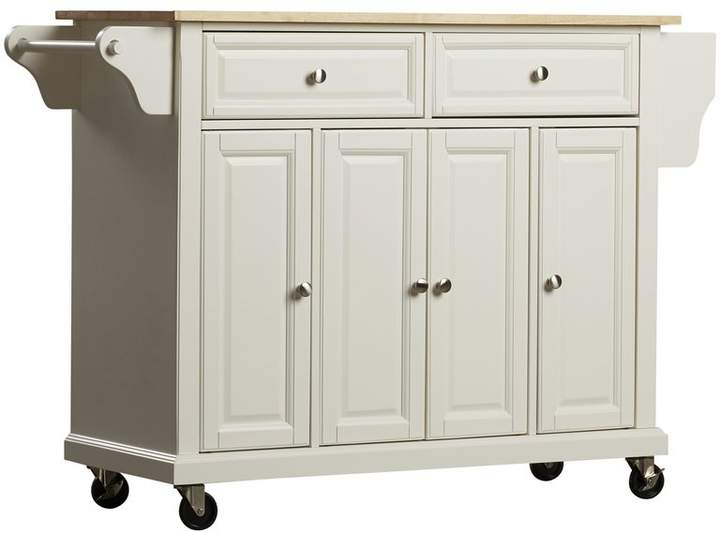 Three Posts Hedon Kitchen Cart With Solid Wood Top Within 2019 Hedon Kitchen Pantry (View 17 of 20)