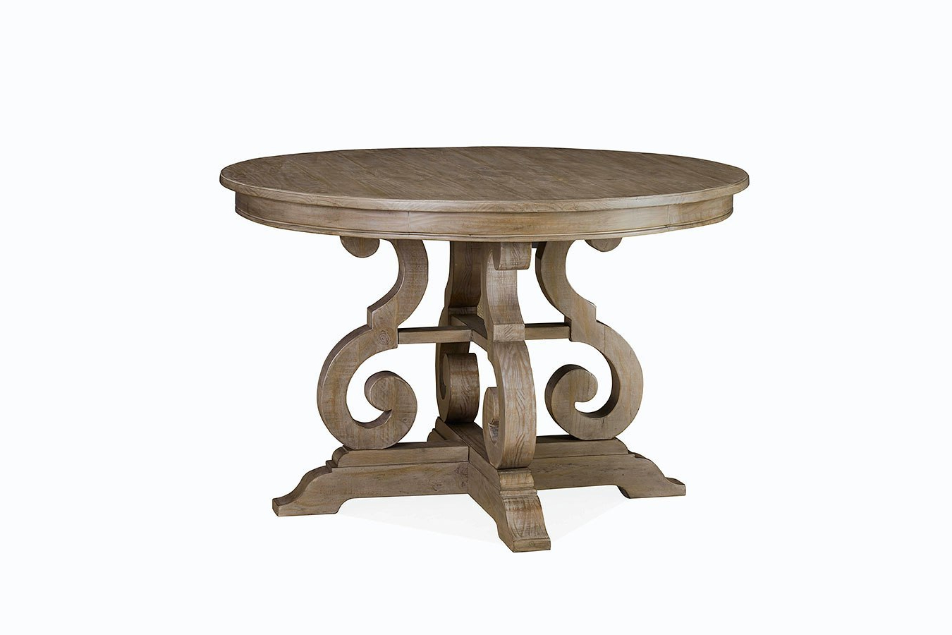 Tinley Park 48 Inch Round Dining Room Set In Current Tinley Park Traditional Dove Tail Grey Coffee Tables (View 14 of 20)