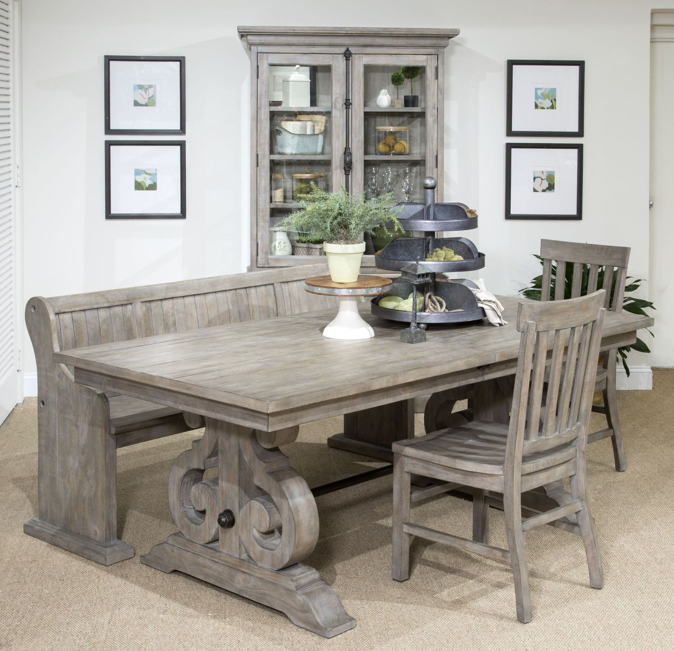 Tinley Park Dove Tail Grey Rectangular Dining Room Set With Regard To Most Current Tinley Park Traditional Dove Tail Grey Coffee Tables (View 7 of 20)
