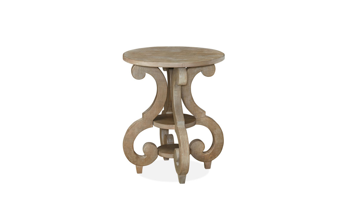 Tinley Park Round End Table – Chervin Furniture & Design Intended For 2020 Tinley Park Traditional Dove Tail Grey Coffee Tables (View 20 of 20)