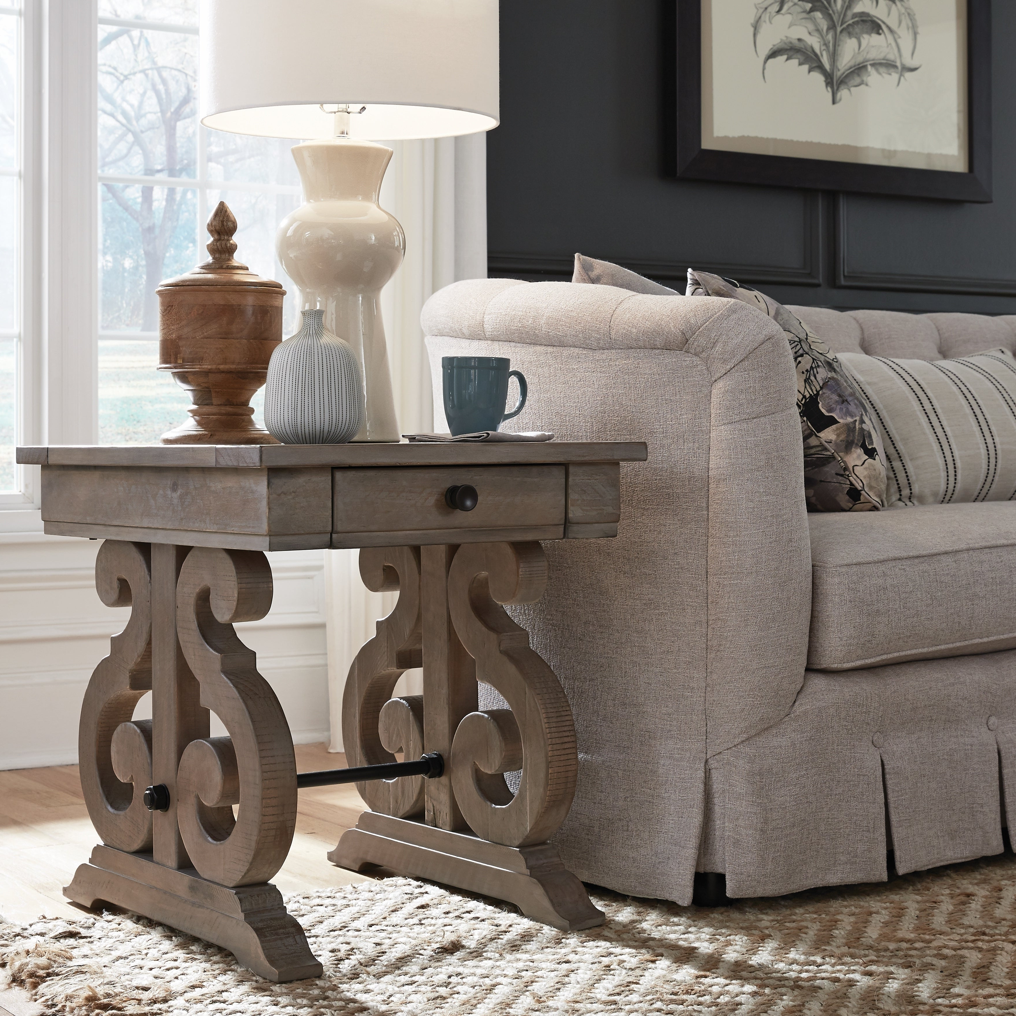 Tinley Park Traditional Dove Tail Grey End Table Pertaining To Current Tinley Park Traditional Dove Tail Grey Coffee Tables (View 4 of 20)