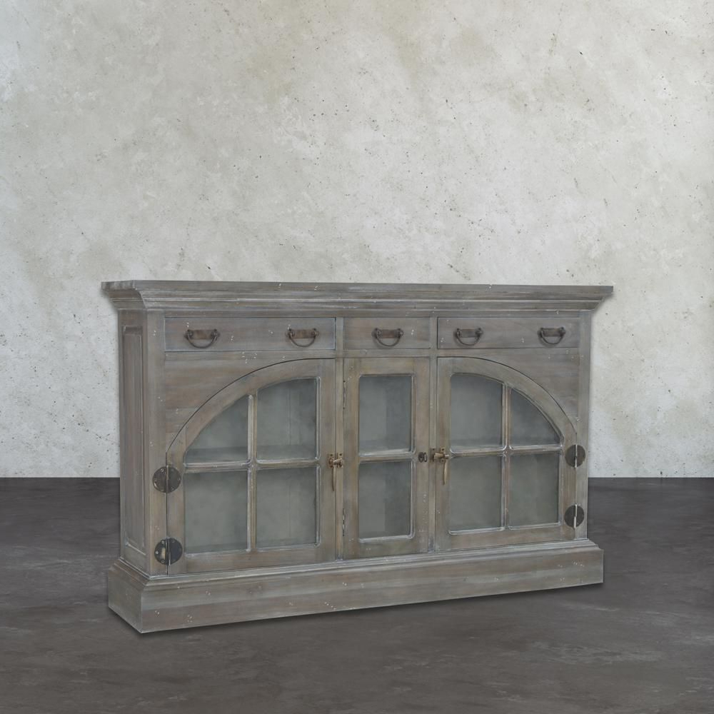 Titan Lighting Farmhouse Waterfront Grey Buffet With Storage Within Etienne Sideboards (View 12 of 20)
