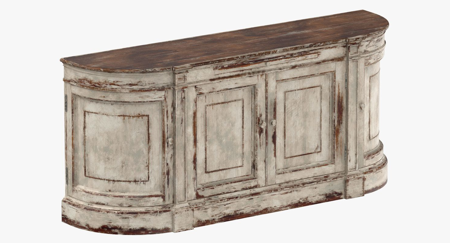 Traditional Sideboard 3d Model | 3d Furniture | Sideboard Within Ilyan Traditional Wood Sideboards (View 5 of 20)