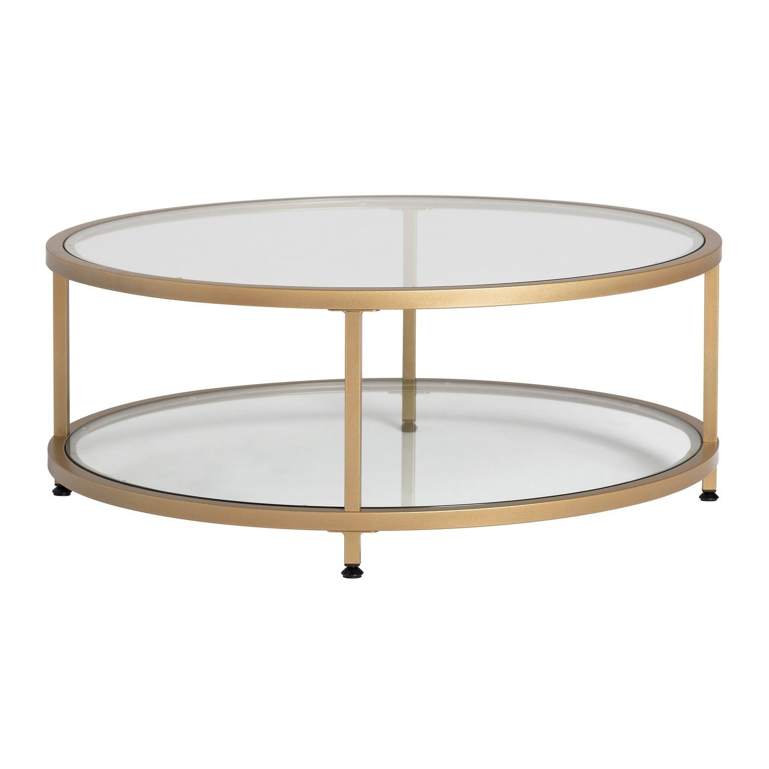 Trendy Carbon Loft Heimlich Pewter Steel/glass Round Coffee Tables Inside Carbon Loft Heimlich Pewter Steel/glass Round Coffee Table (View 18 of 20)