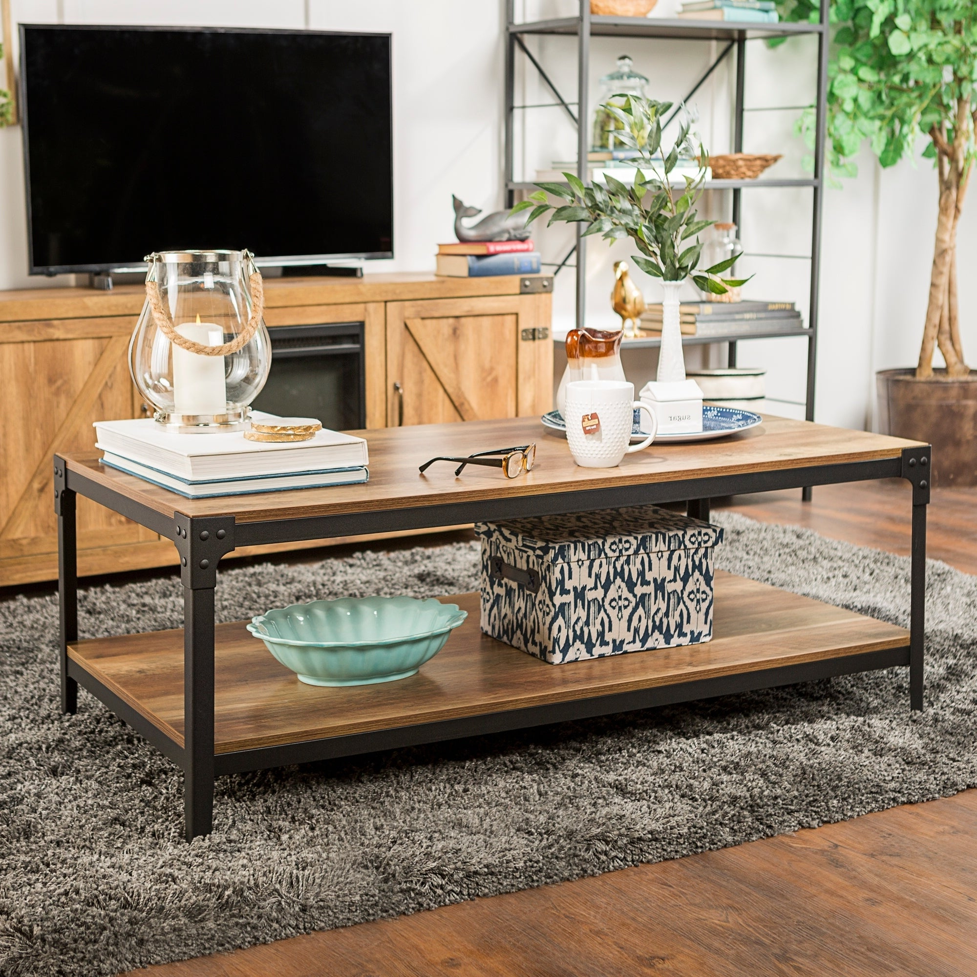 Trendy Carbon Loft Witten Angle Iron And Driftwood Coffee Tables Throughout Carbon Loft Witten Angle Iron Coffee Table – 48 X 24 X 18H (View 14 of 20)