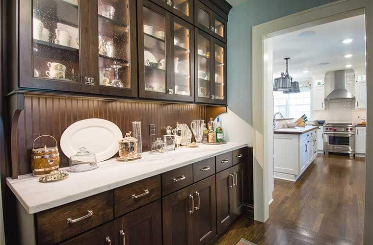 Trendy Farmhouse Kitchen Pantry Inside Updated Farmhouse Kitchen Integrates Butler's Pantry And (View 11 of 20)