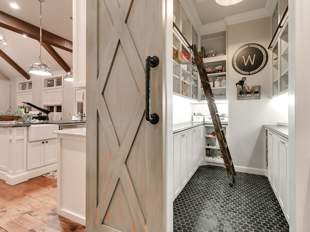 Trendy Farmhouse Kitchen Pantry With Regard To Modern Farmhouse – Farmhouse – Kitchen – Oklahoma City – (View 19 of 20)