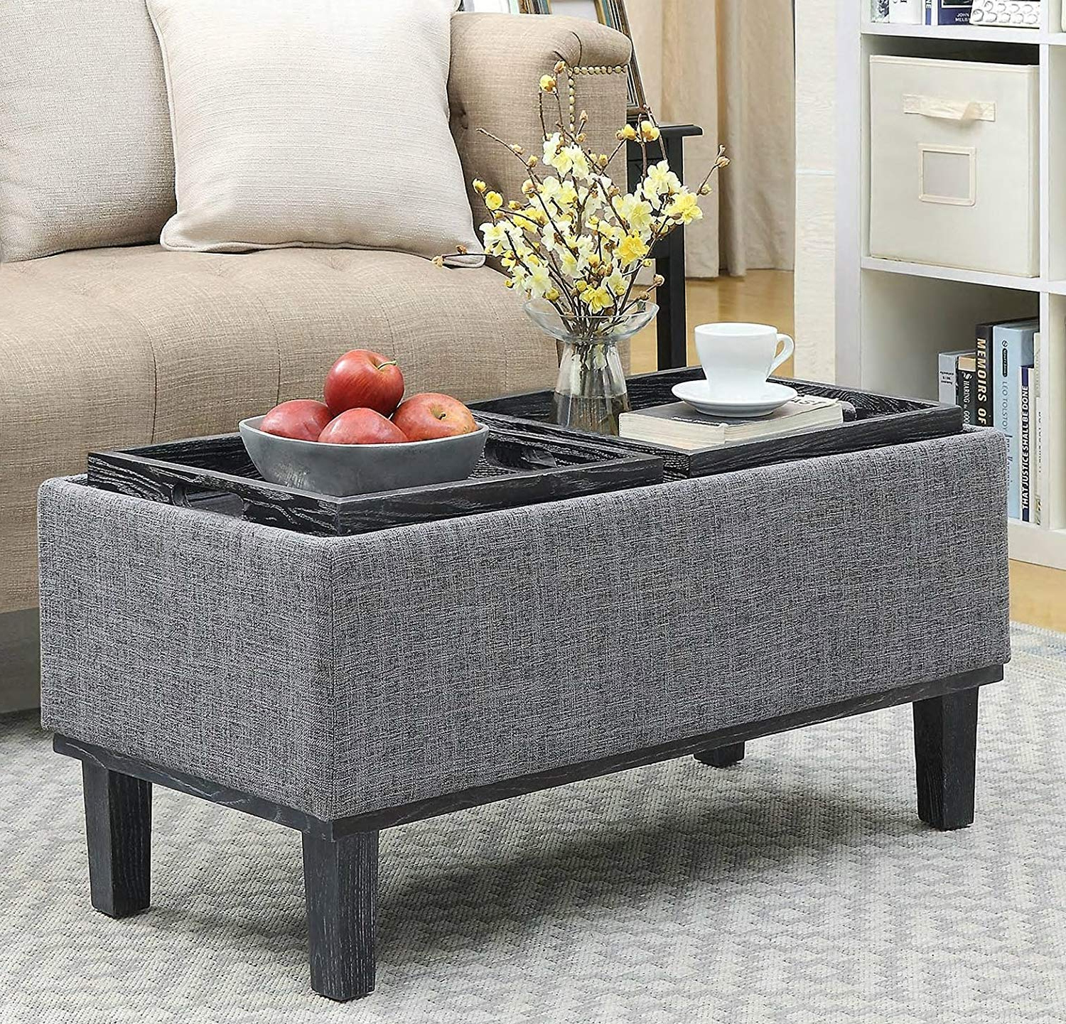 Trendy Lennon Pine Planked Storage Ottoman Coffee Tables With Regard To Storage Ottoman Coffee Table – Andrewab.co (View 12 of 20)