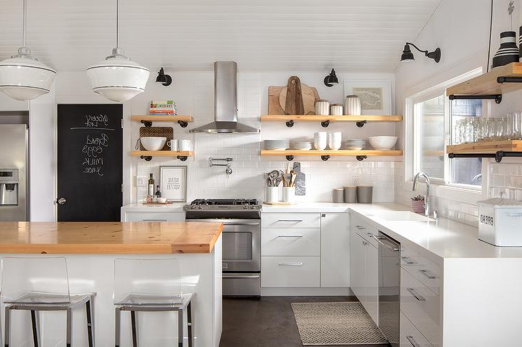 Trendy Milford Kitchen Pantry With Regard To Chalkboard On Kitchen Pantry Door – Cottage – Kitchen (View 17 of 20)