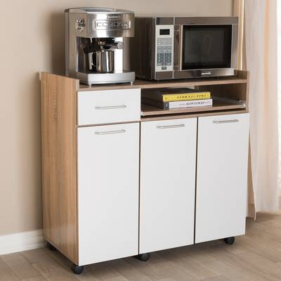 "Trendy Oconto Kitchen Pantry In Wrought Studio Girard 72"" Refrigerator Kitchen Pantry (View 18 of 20)"