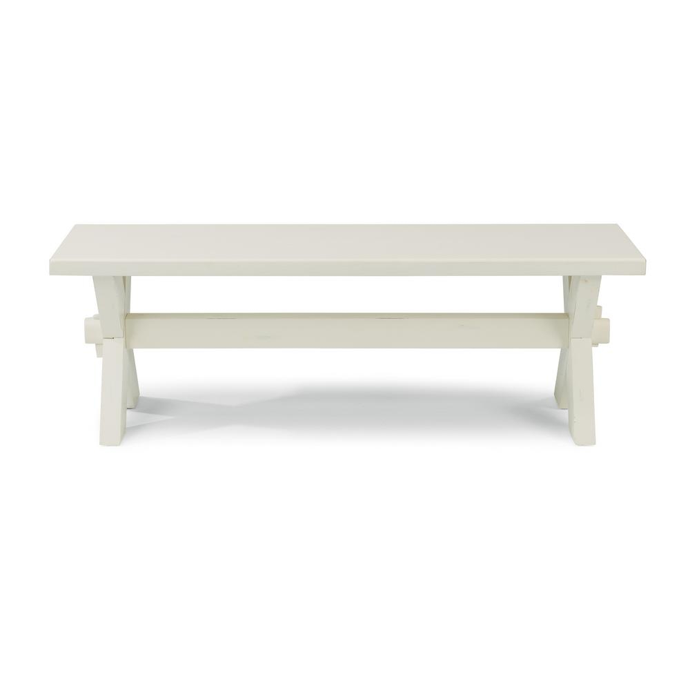 Trendy Seaside Lodge Coffee Tables Within Home Styles Seaside Lodge White Trestle Dining Bench 5523 (View 6 of 20)