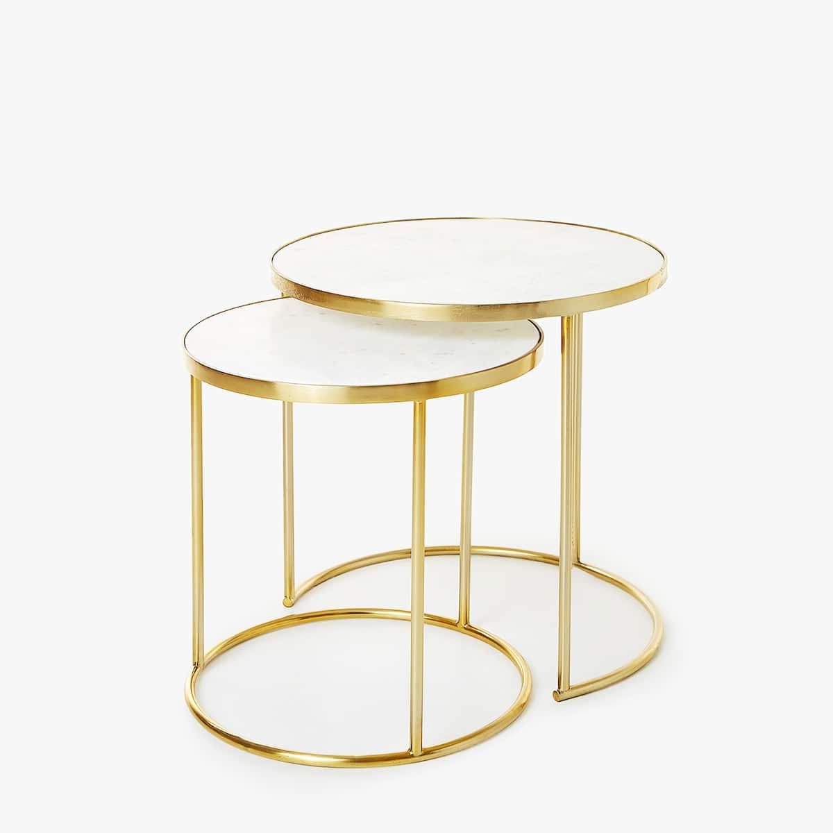 Trendy Silver Orchid Henderson Faux Stone Round End Tables Intended For Pin On Best For Your House (View 19 of 20)