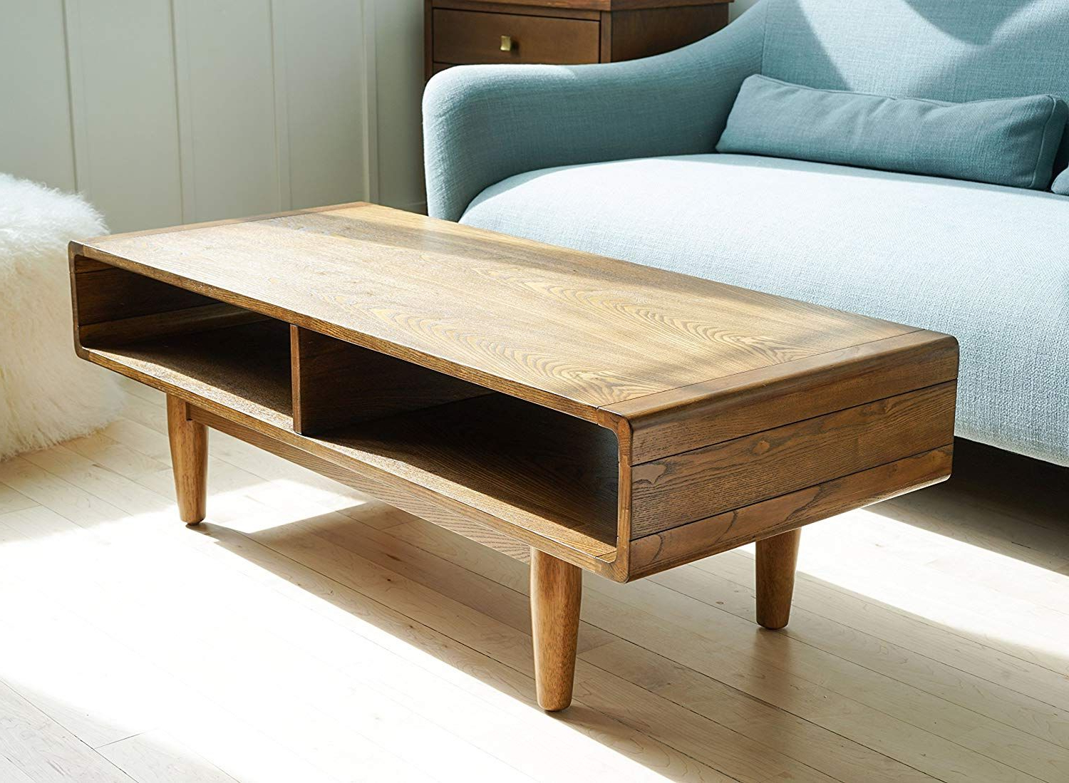 Featured Photo of Solid Hardwood Rectangle Mid Century Modern Coffee Tables