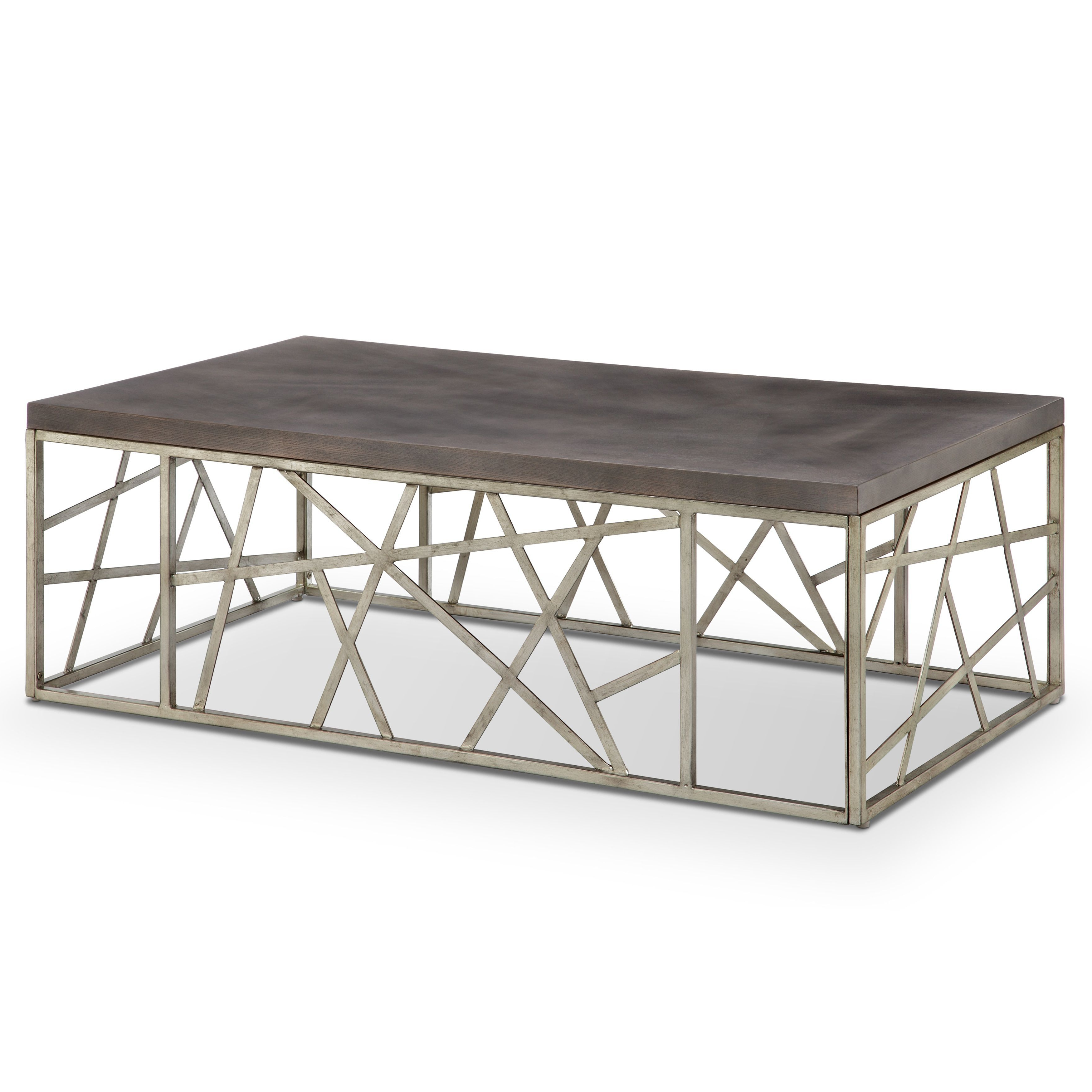 Featured Photo of Tribeca Contemporary Distressed Silver And Smoke Grey Coffee Tables