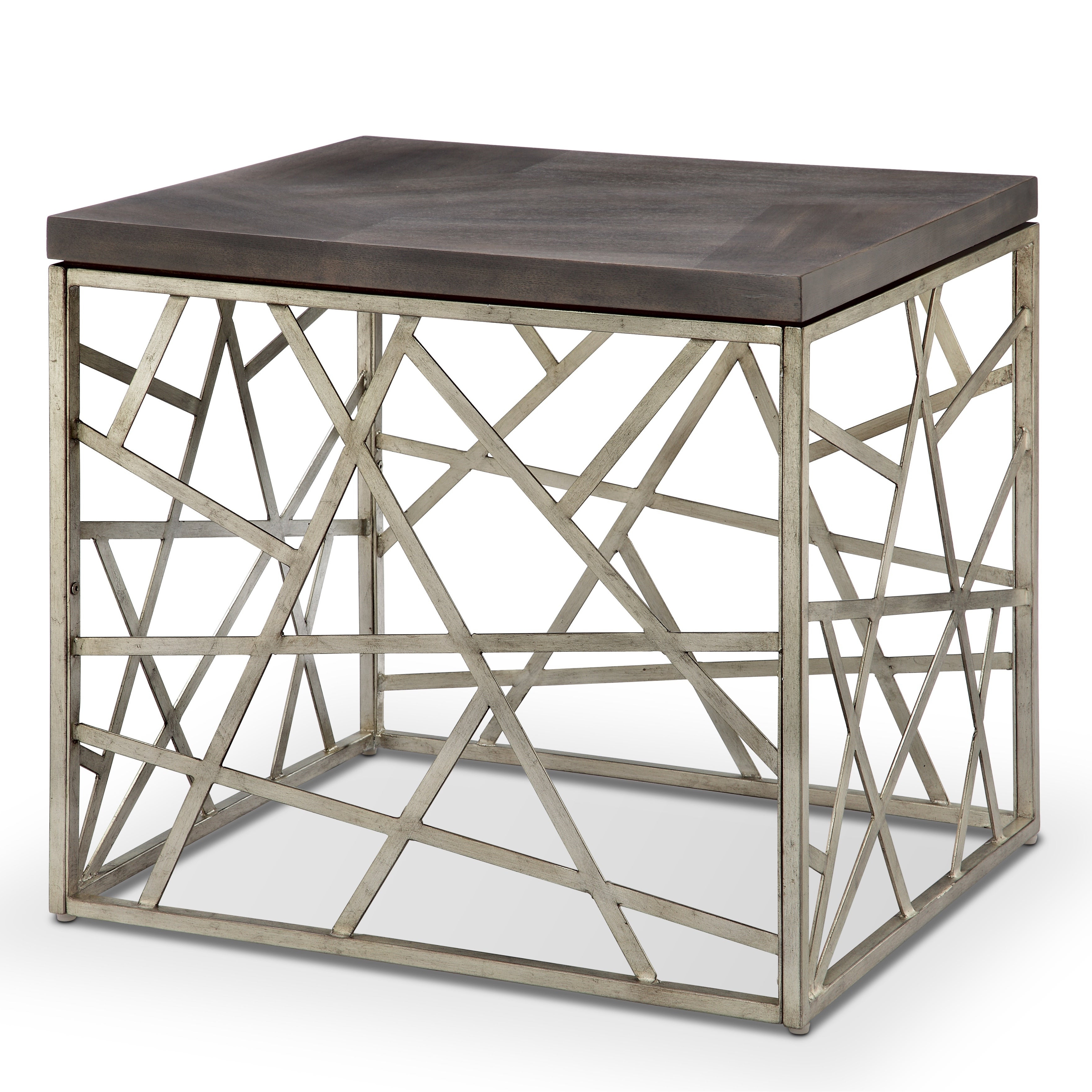Tribeca Contemporary Distressed Silver And Smoke Grey End Table For Most Current Tribeca Contemporary Distressed Silver And Smoke Grey Coffee Tables (View 18 of 20)