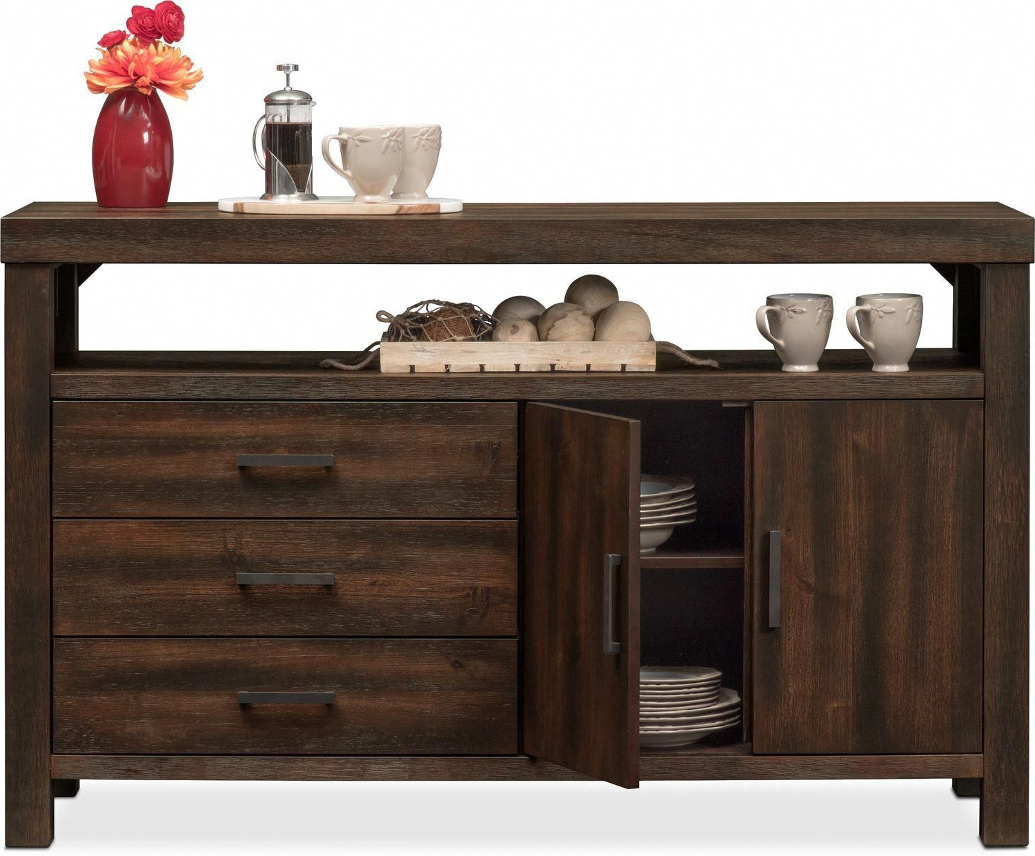 Tribeca Sideboard – Tobacco | Value City Furniture And Intended For Tribeca Sideboards (View 4 of 20)