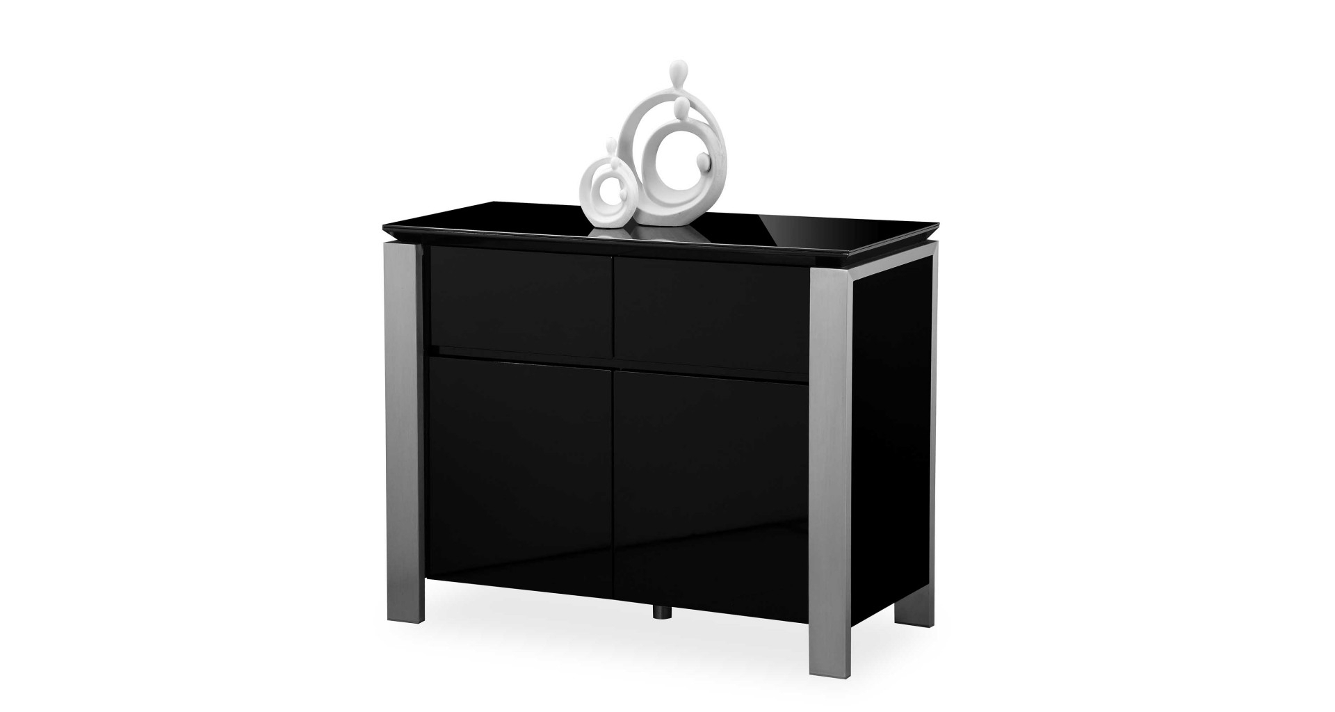 Tribeca – Small Sideboard – Black High Gloss Pertaining To Tribeca Sideboards (View 19 of 20)