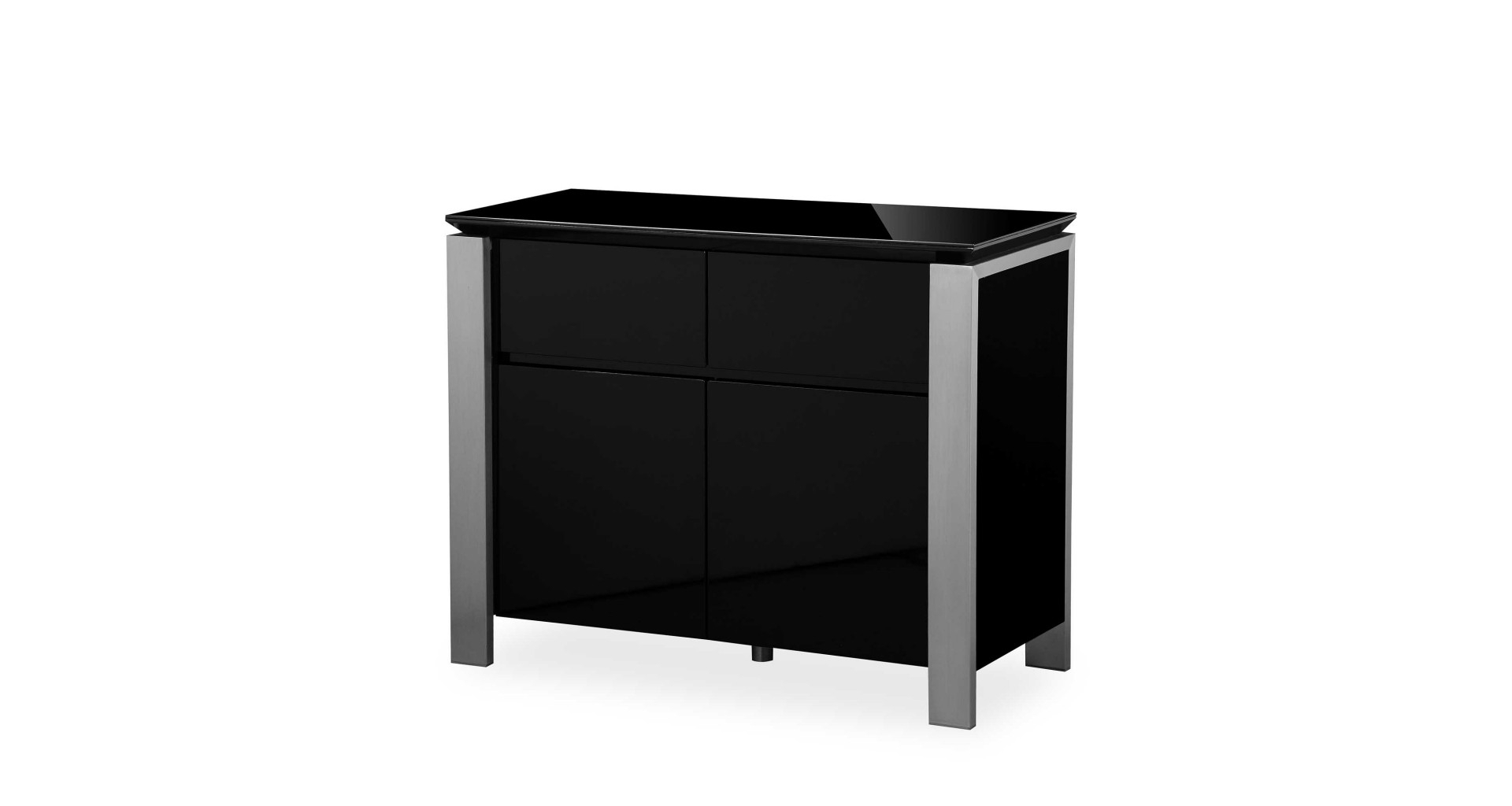 Tribeca – Small Sideboard – Black High Gloss Throughout Tribeca Sideboards (View 6 of 20)