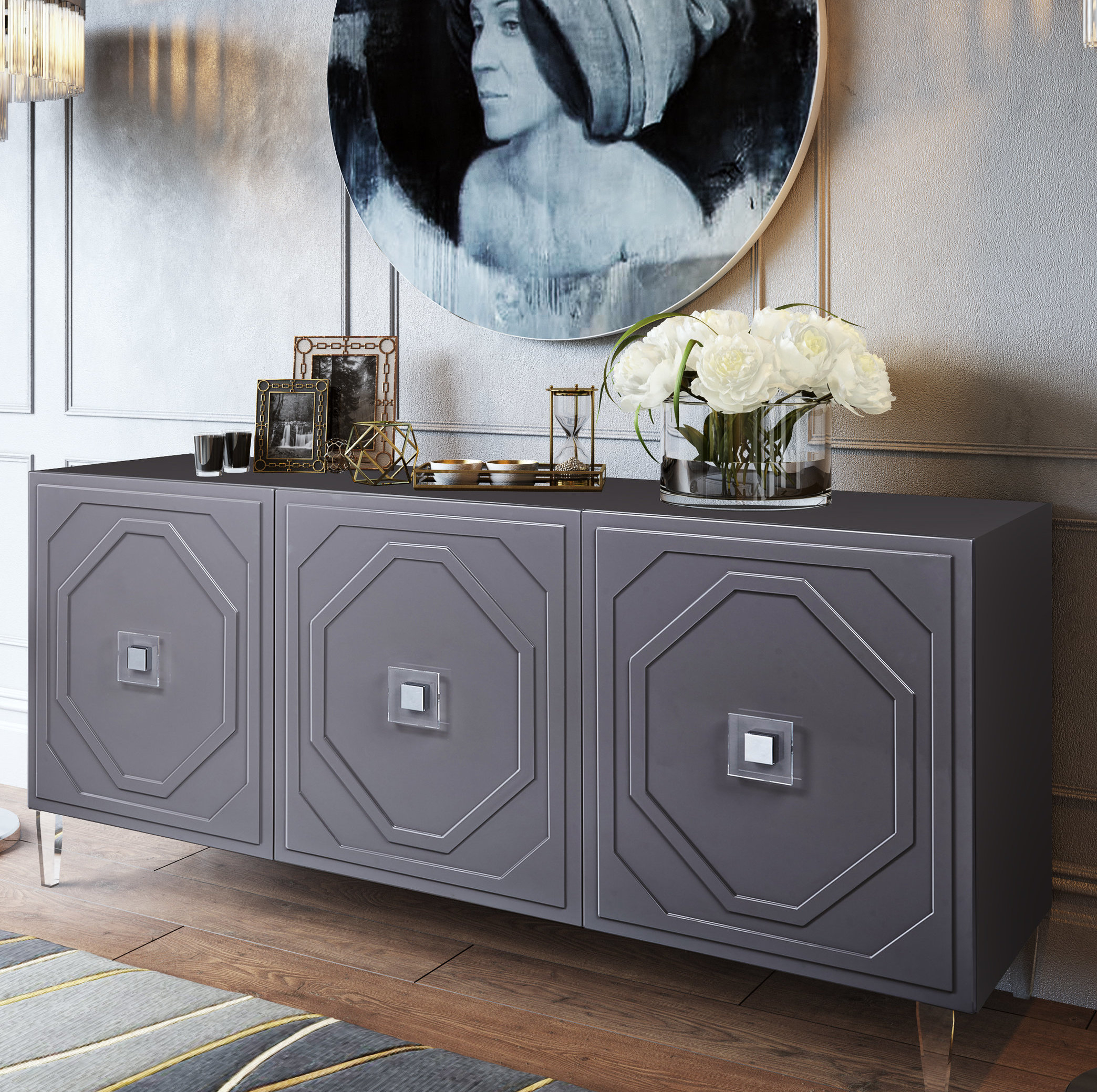 Trish Lacquer Buffet Table With Regard To Jacklyn 3 Door Sideboards (View 15 of 20)