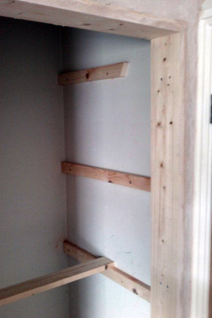 Tuohy Kitchen Pantry With Regard To Most Up To Date Fix Battens To The Wall To Support The Slatted Shelf (View 18 of 20)