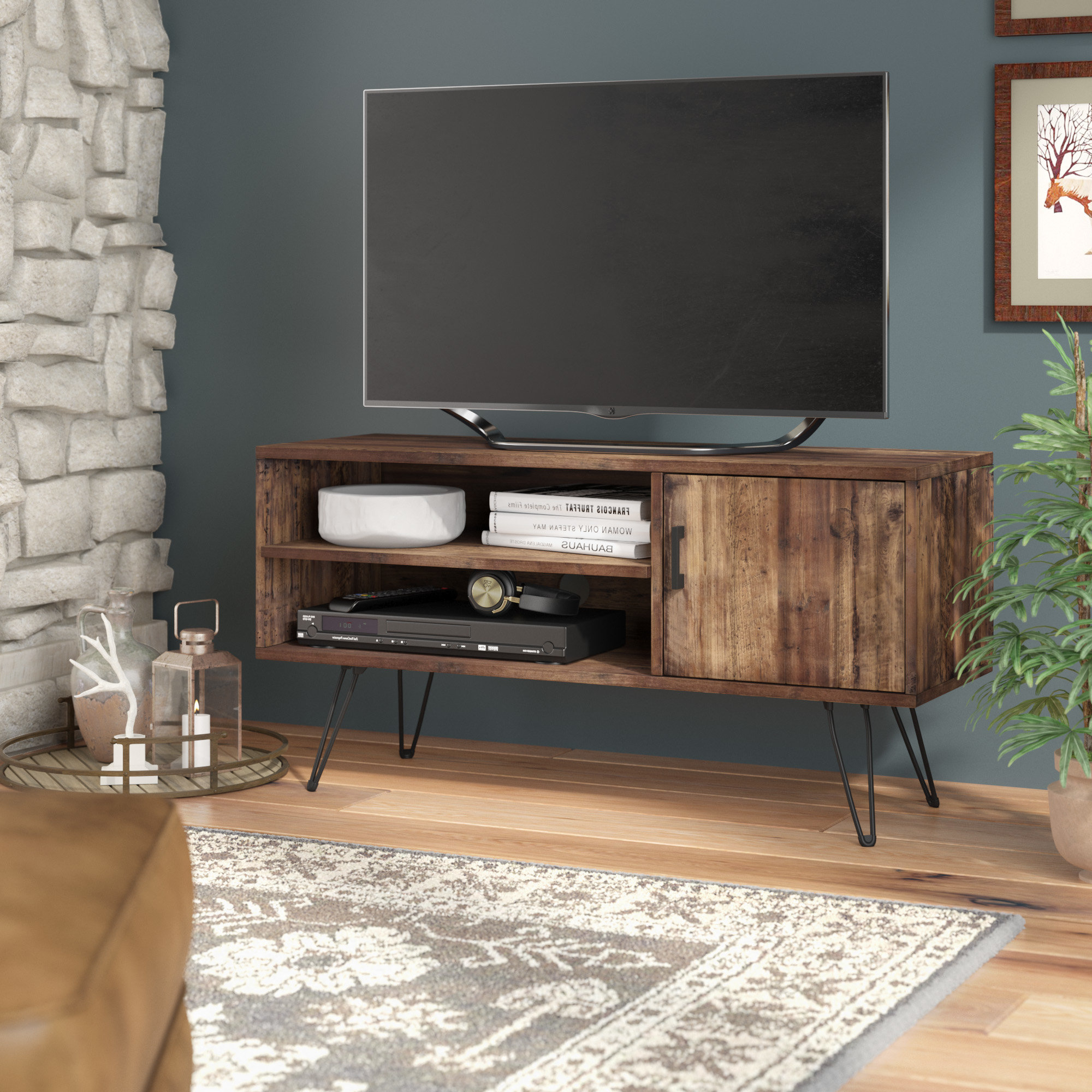 "Union Rustic Barclee Media Tv Stand For Tvs Up To 58 Regarding Ericka Tv Stands For Tvs Up To 42"" (View 6 of 20)"