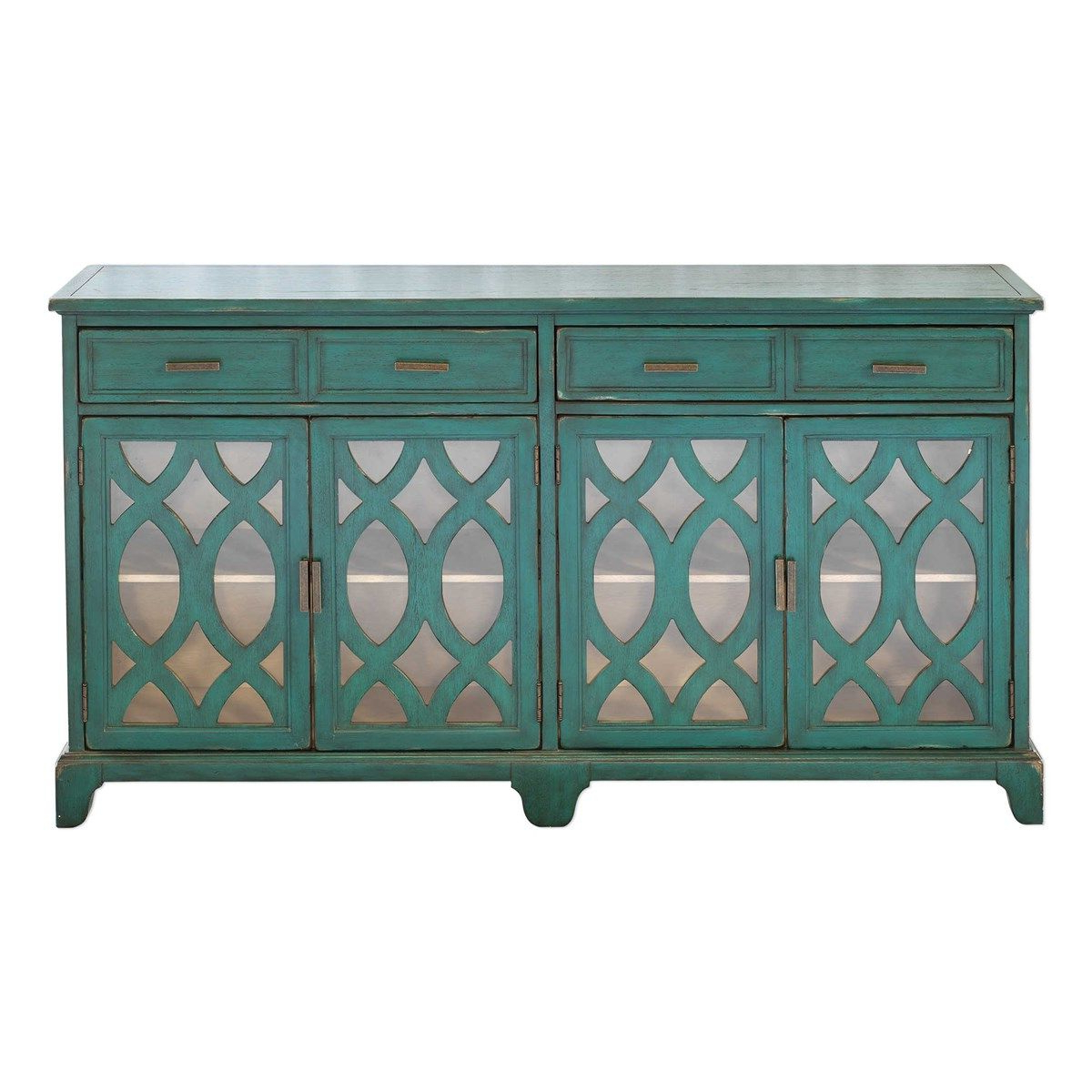 Uttermost Oksana Wooden Credenza | The Lodge At Truitt In Within Kara 4 Door Accent Cabinets (View 12 of 20)
