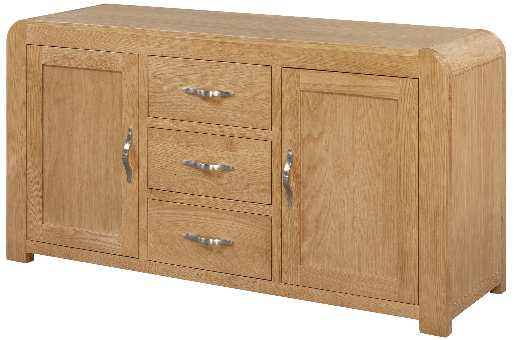 Venice Sideboard With 2 Doors & 3 Drawers – Venice Oak Range With Regard To Norton Sideboards (View 19 of 20)