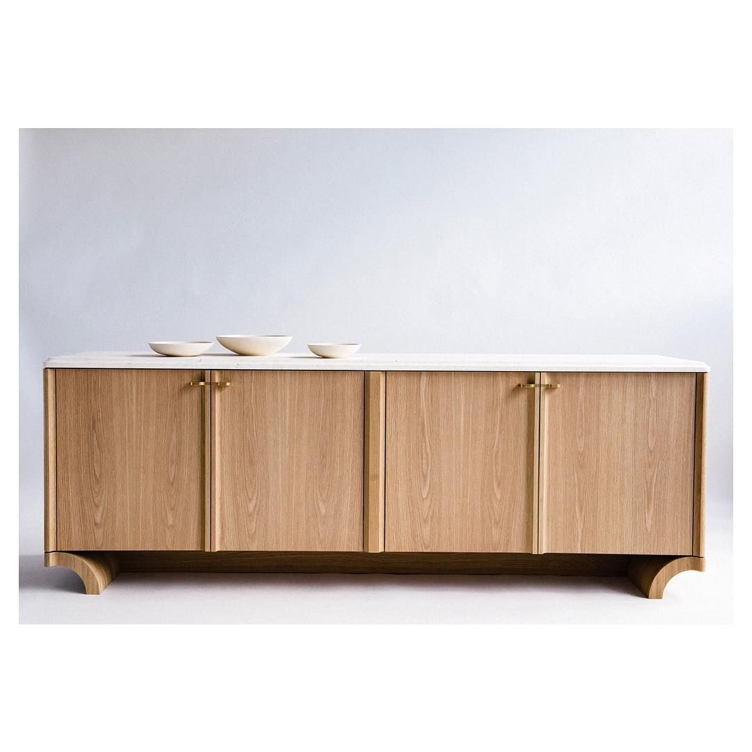 "Vonnegut / Kraft On Instagram: ""Bombora Credenza. White Oak Throughout Weinberger Sideboards (Gallery 10 of 20)"