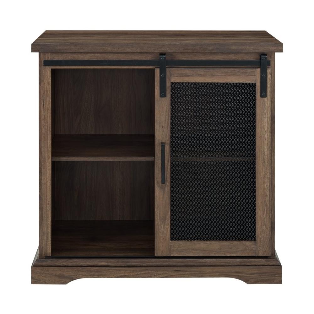 Walker Edison – Sliding Metal Mesh Door Modern Buffet With Regard To Fugate 2 Door Credenzas (View 10 of 20)