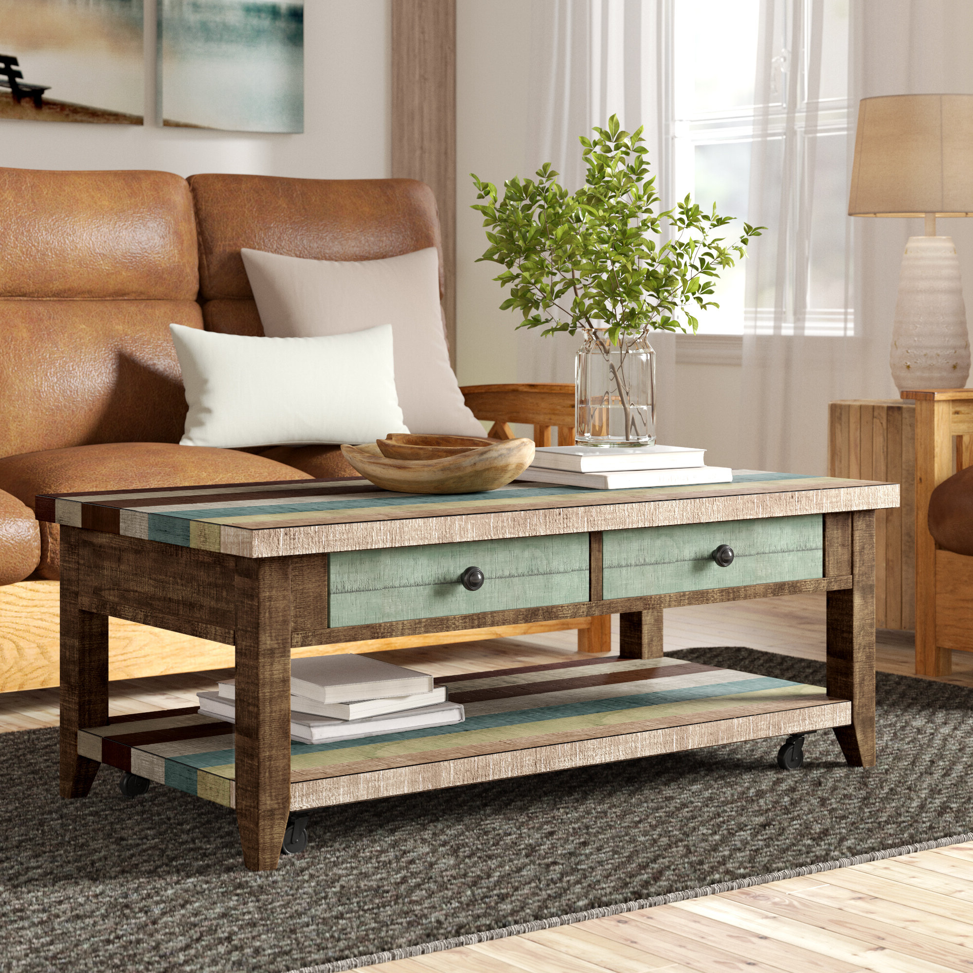 Wayfair Throughout Most Up To Date Carbon Loft Kenyon Natural Rustic Coffee Tables (View 17 of 20)