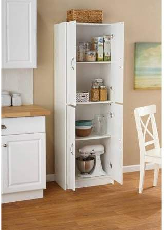 Well Known Aaronsburg Kitchen Pantry In Mainstays 4 Shelf Multipurpose Storage Cabinet, White In (View 20 of 20)