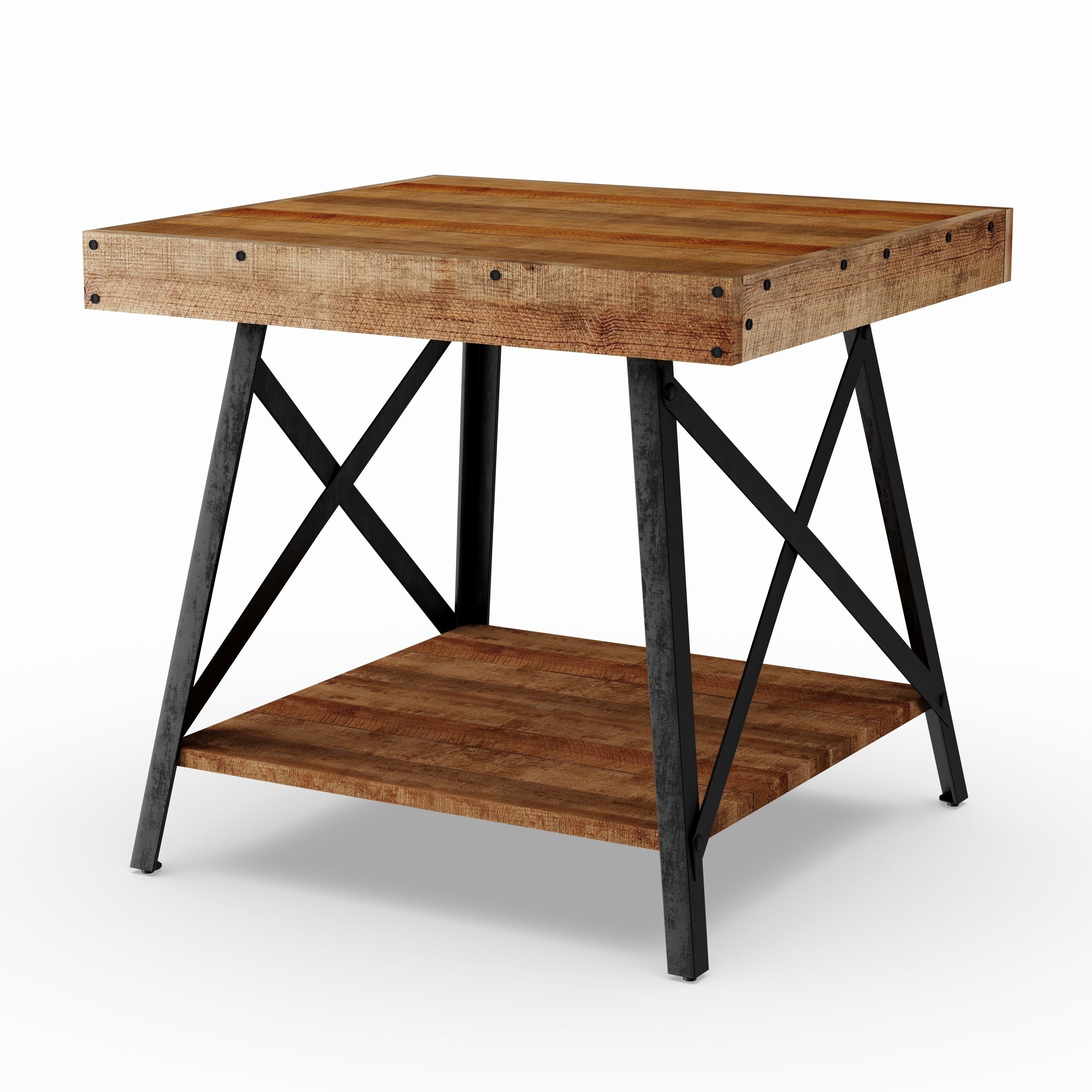 Well Known Carbon Loft Oliver Modern Rustic Natural Fir Coffee Tables Pertaining To Pine (Green) Canopy Kaibab Reclaimed Look Wood End Table (View 15 of 20)
