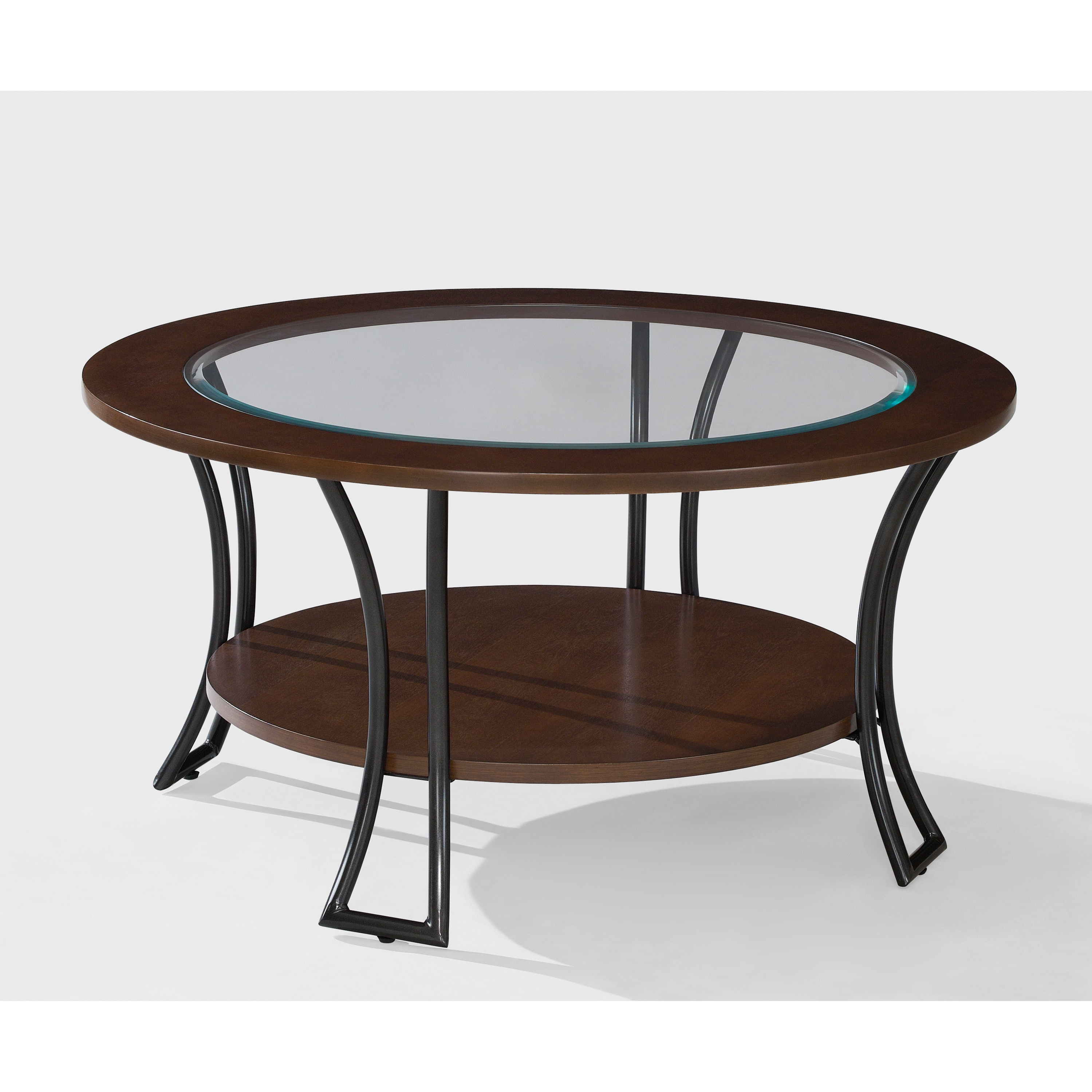Well Known Copper Grove Halesia Chocolate Bronze Round Coffee Tables Regarding Copper Grove Carlisle Walnut/ Charcoal Grey Round Coffee Table (View 10 of 20)