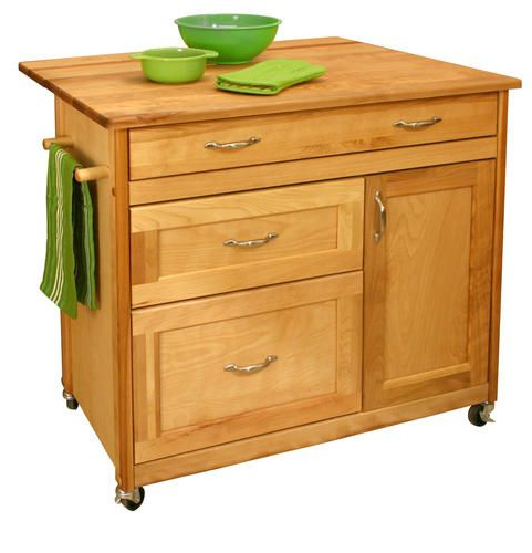 """Well Known Ermengarda Kitchen Pantry Throughout 40"""" Mid Sized 3 Drawer Island At Menards (View 19 of 20)"""