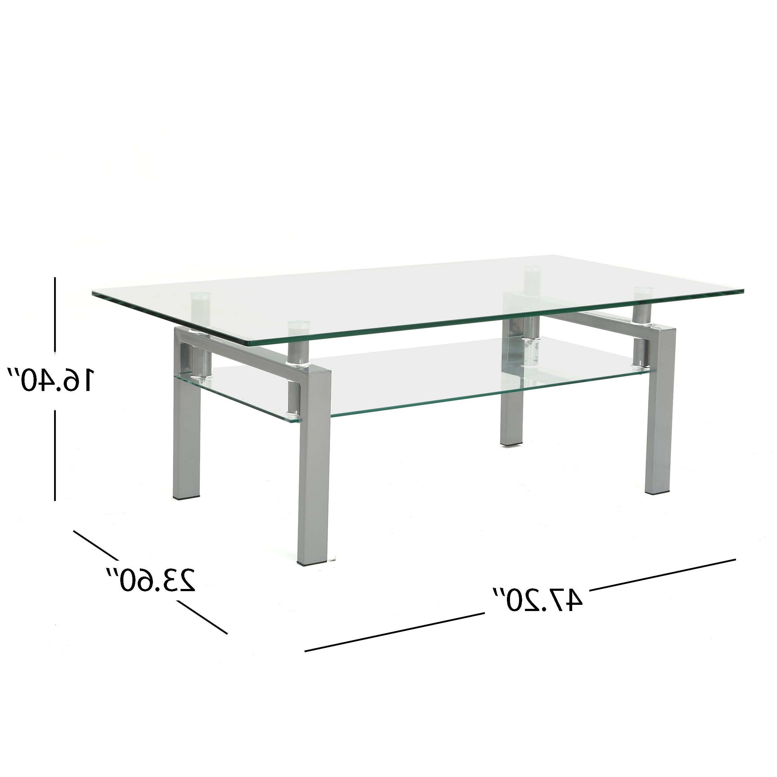Well Known Finbar Modern Rectangle Glass Coffee Tables With Regard To Finbar Modern Rectangle Glass Coffee Tablechristopher Knight Home (View 18 of 20)