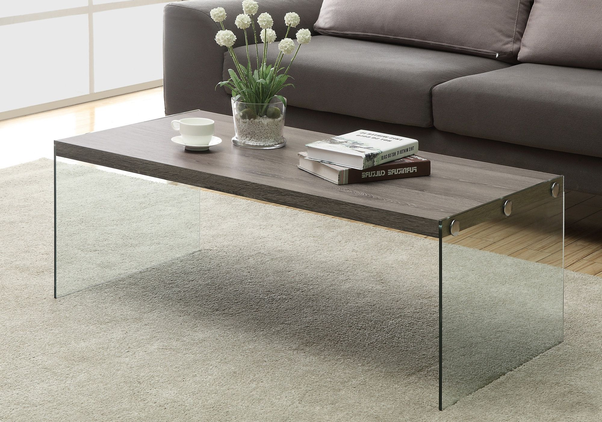 Well Known Glossy White Hollow Core Tempered Glass Cocktail Tables Regarding I 3054 Coffee Table (View 10 of 20)