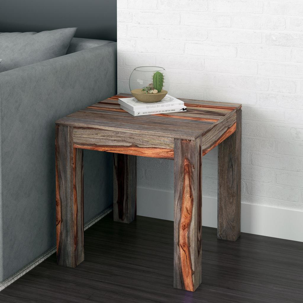 Well Known Idris Dark Sheesham Solid Wood Coffee Tables For Idris Hand Crafted Wooden Accent Table Grey 2 Tone – Casaza (View 18 of 20)