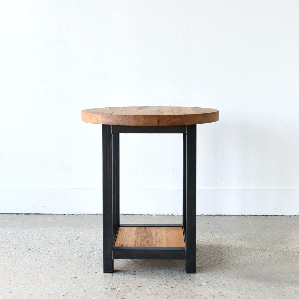 Well Known Montgomery Industrial Reclaimed Wood Coffee Tables With Casters Regarding Reclaimed Wood End Tables – Jimcarnley (View 18 of 20)