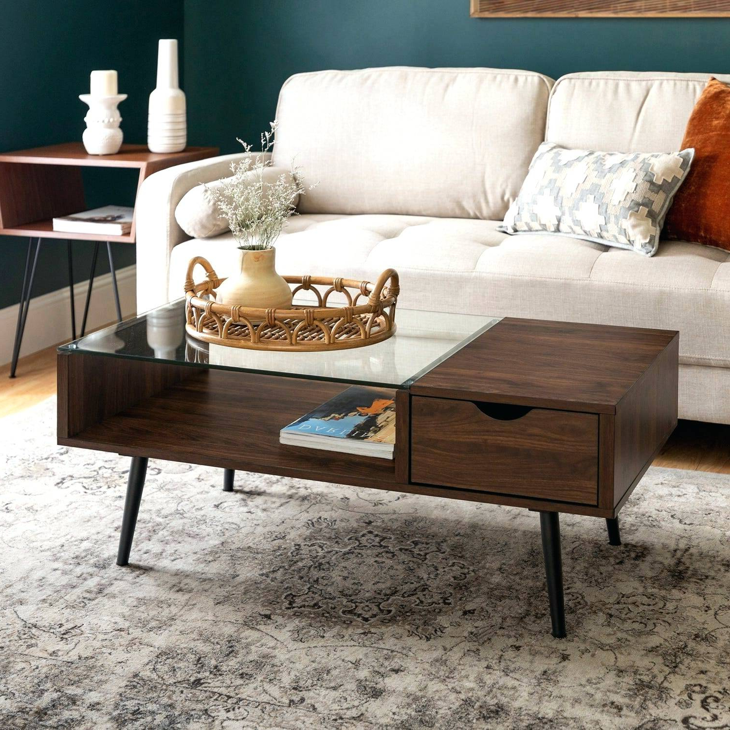 Well Known Sawyer Industrial Reclaimed Rectangular Cocktail Tables In Wood Glass Coffee Table – Cccirc (View 10 of 20)