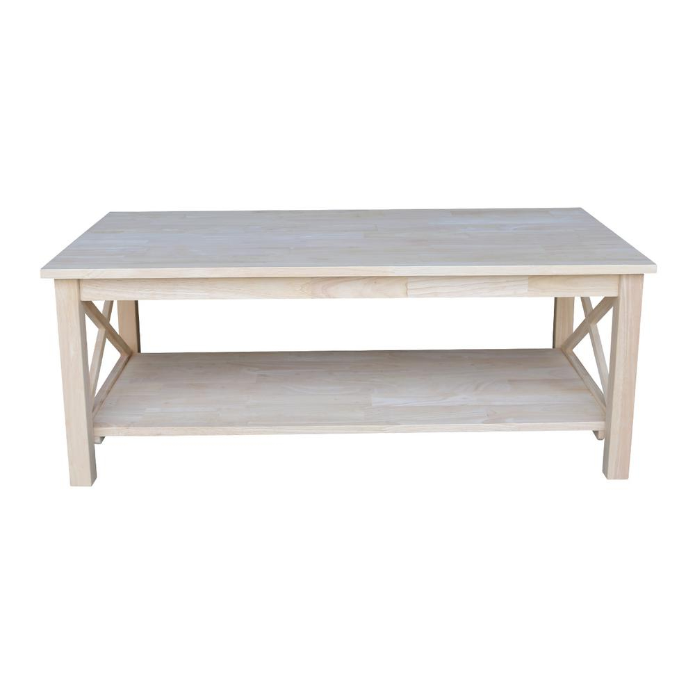 Well Known Shaker Unfinished Solid Parawood Tall Coffee Tables For International Concepts Hampton Unfinished Coffee Table Ot (View 14 of 20)