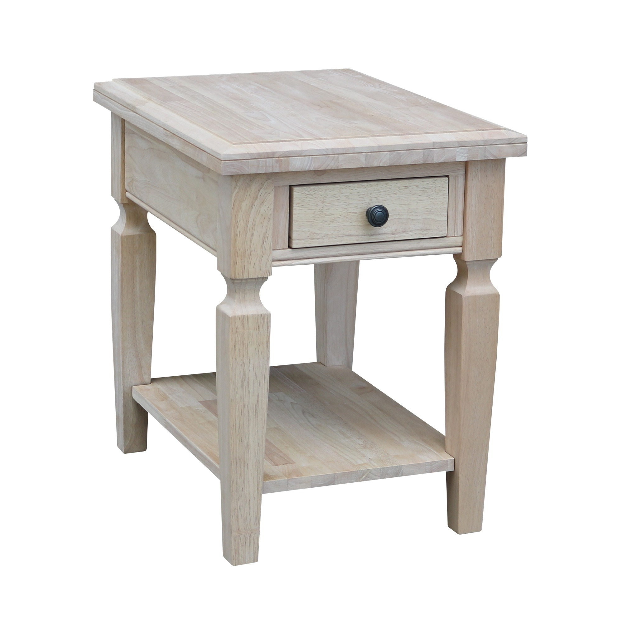 Well Known Shaker Unfinished Solid Parawood Tall Coffee Tables Inside Ot 15e Vista End Table W/ Free Shipping (View 4 of 20)