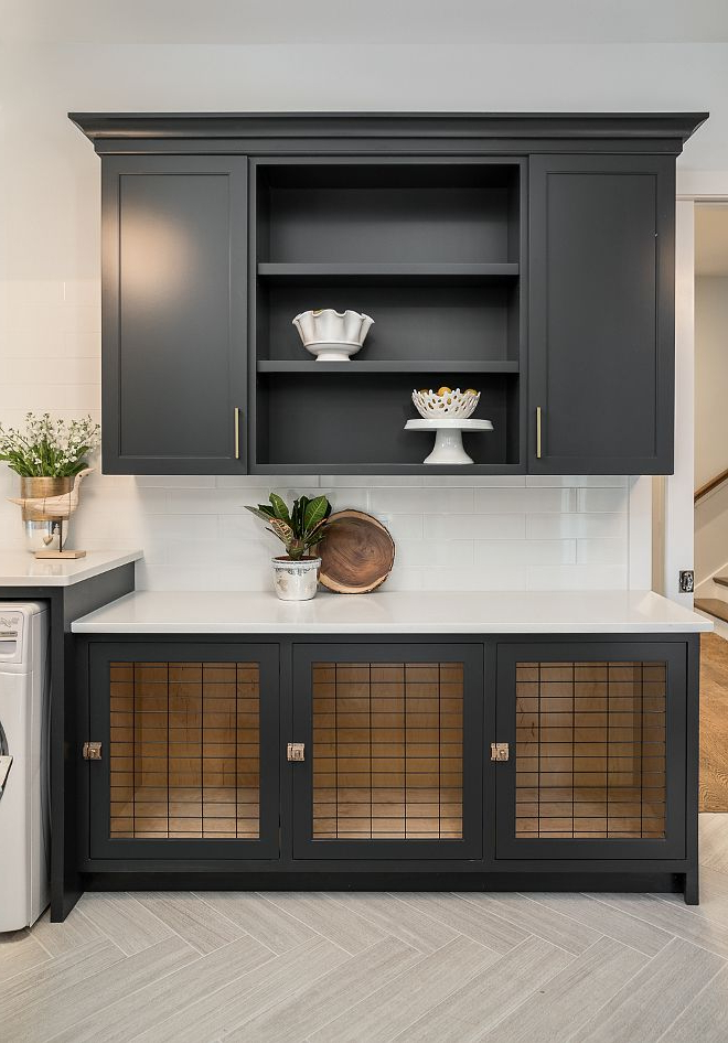 Well Known Sw Iron Ore Paint On Cabinets In Pantrywould Look Good On Inside Kitchen Pantry By Ore Furniture (View 19 of 20)