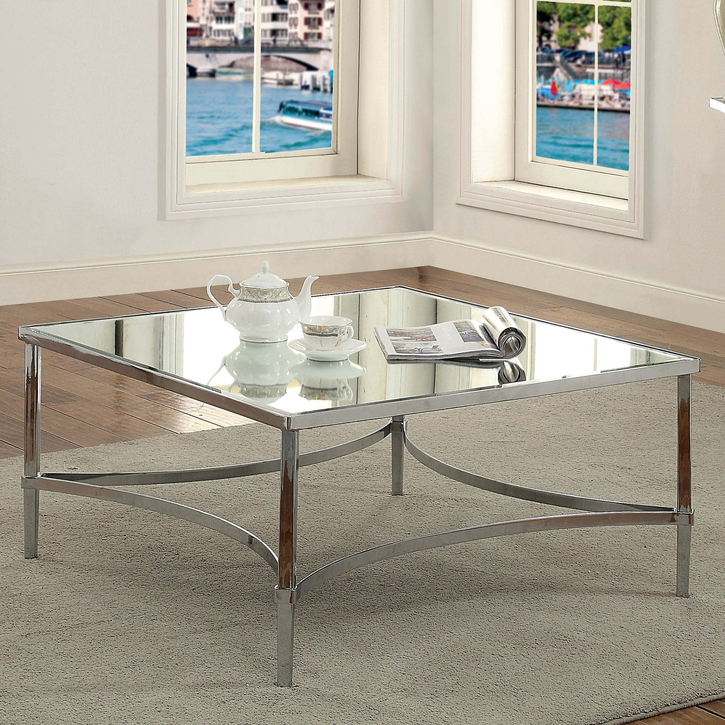 Well Known Thalberg Contemporary Chrome Coffee Tables By Foa Throughout Frank Contemporary Chrome Coffee Tablefoa (View 19 of 20)