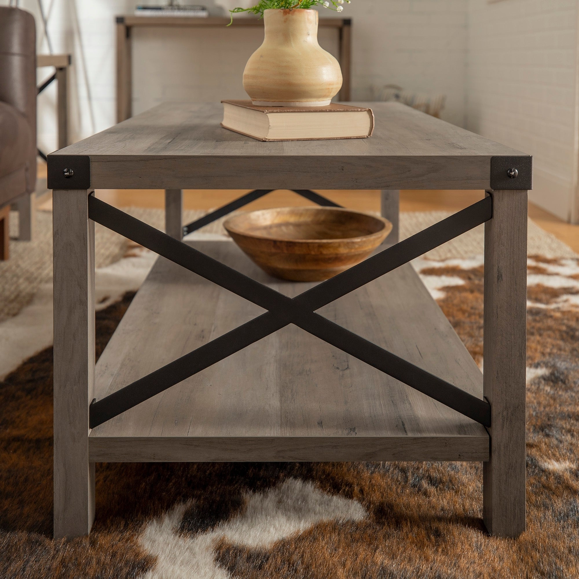 Well Known The Gray Barn Kujawa Metal X Coffee Tables – 40 X 22 X 18h Regarding The Gray Barn Kujawa Metal X Coffee Table – 40 X 22 X 18h (View 4 of 20)