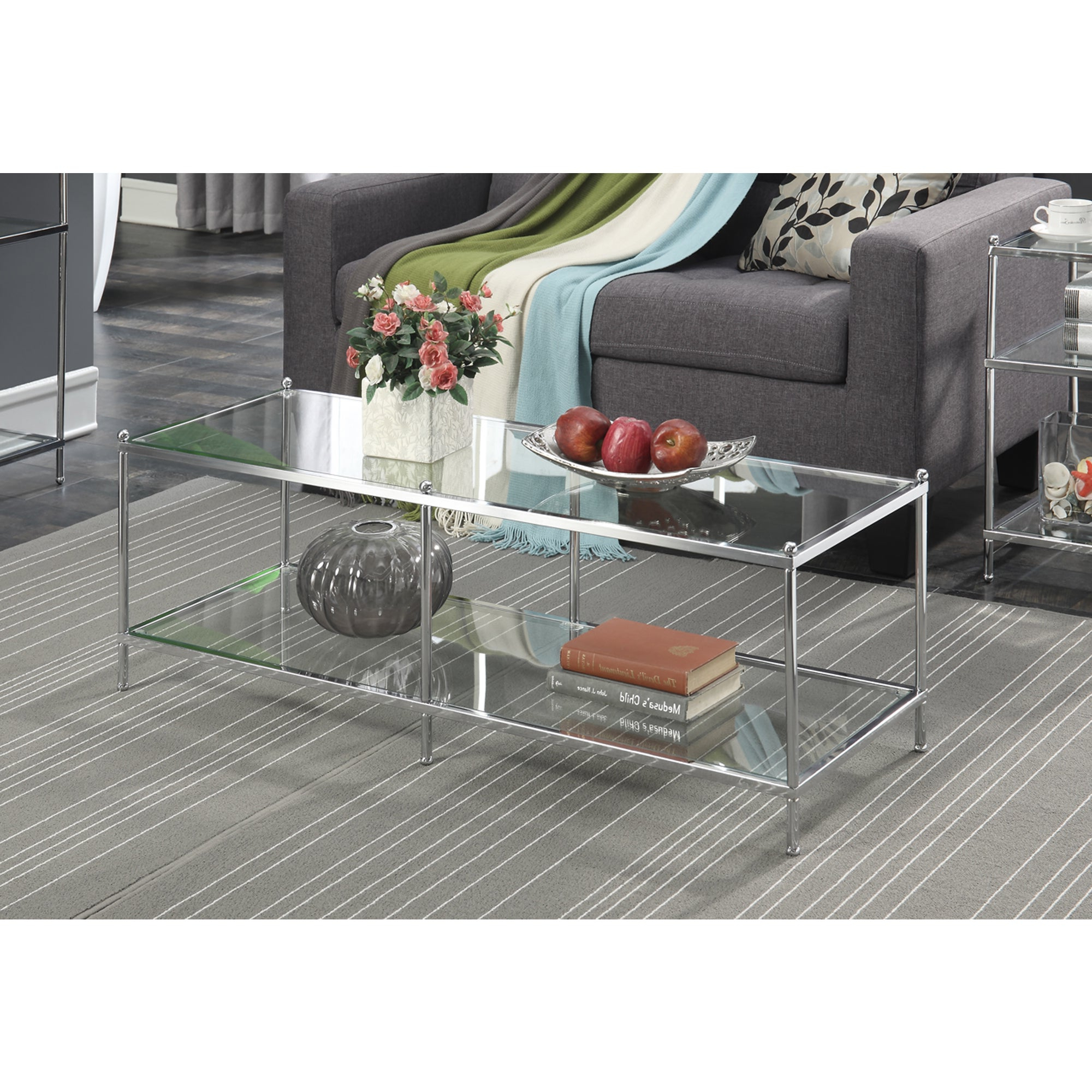 Well Liked Coaster Company Silver Glass Coffee Tables In Silver Orchid Price Glass Coffee Table (View 3 of 20)