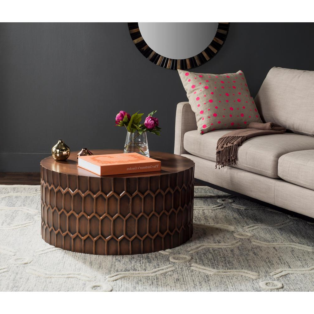 Well Liked Corey Rustic Brown Accent Tables For Corey Antique Copper Coffee Table (View 14 of 20)