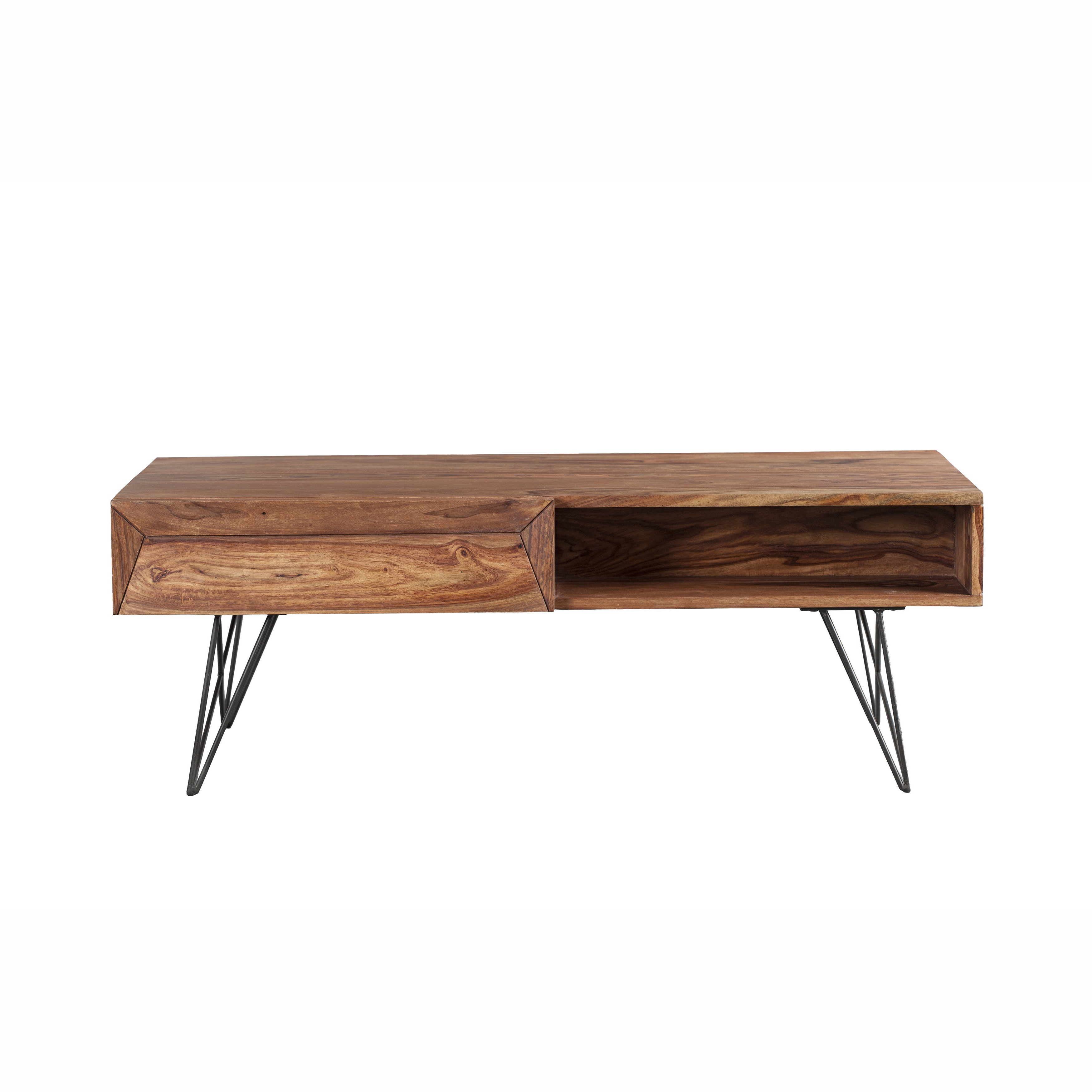 Well Liked Idris Dark Sheesham Solid Wood Coffee Tables Throughout Mandara Handcrafted Solid Sheesham Wood Coffee Table – 45x24x (View 13 of 20)