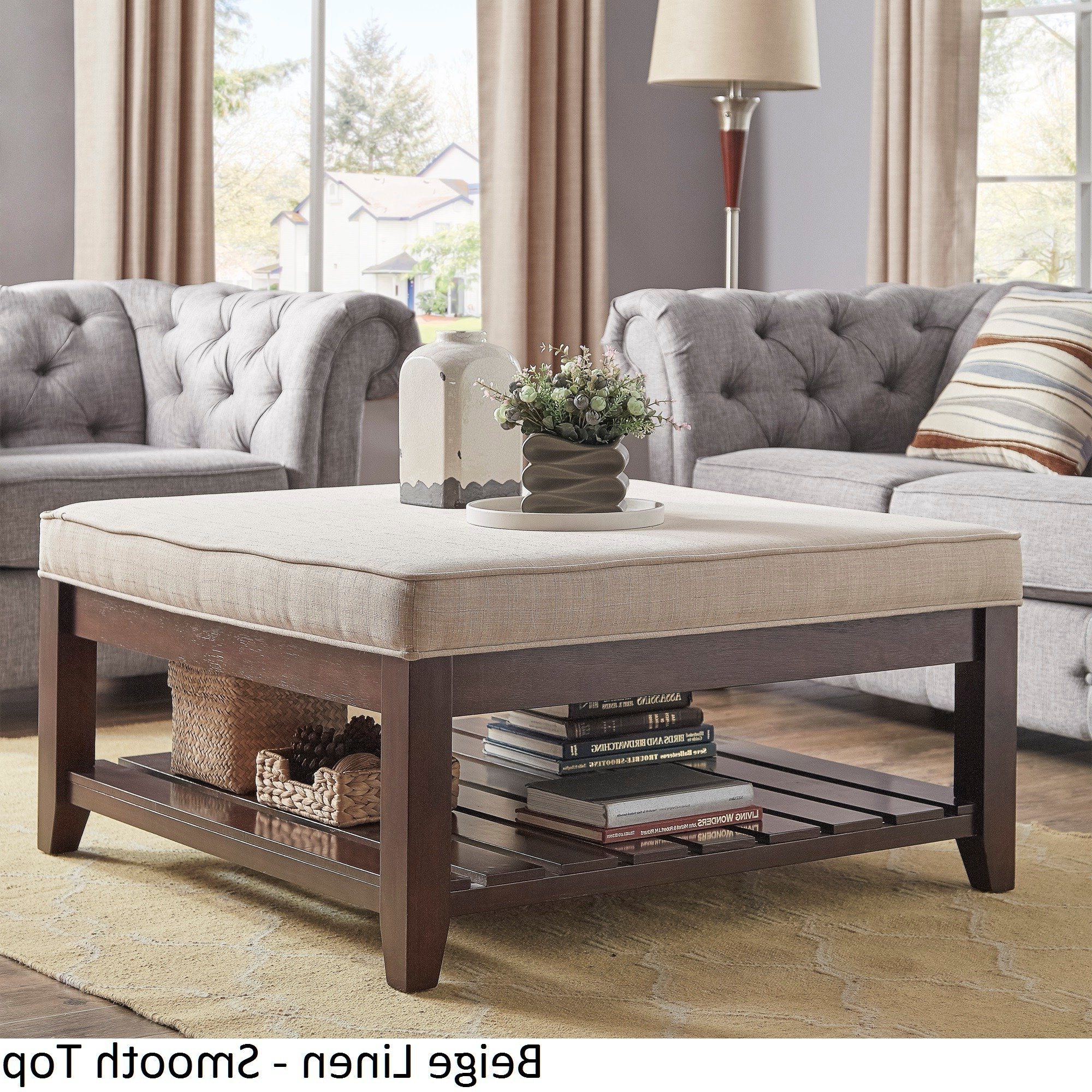 Well Liked Lennon Pine Planked Storage Ottoman Coffee Tables Inside Inspire Q Lennon Espresso Planked Storage Ottoman Coffee Tableclassic (View 13 of 20)