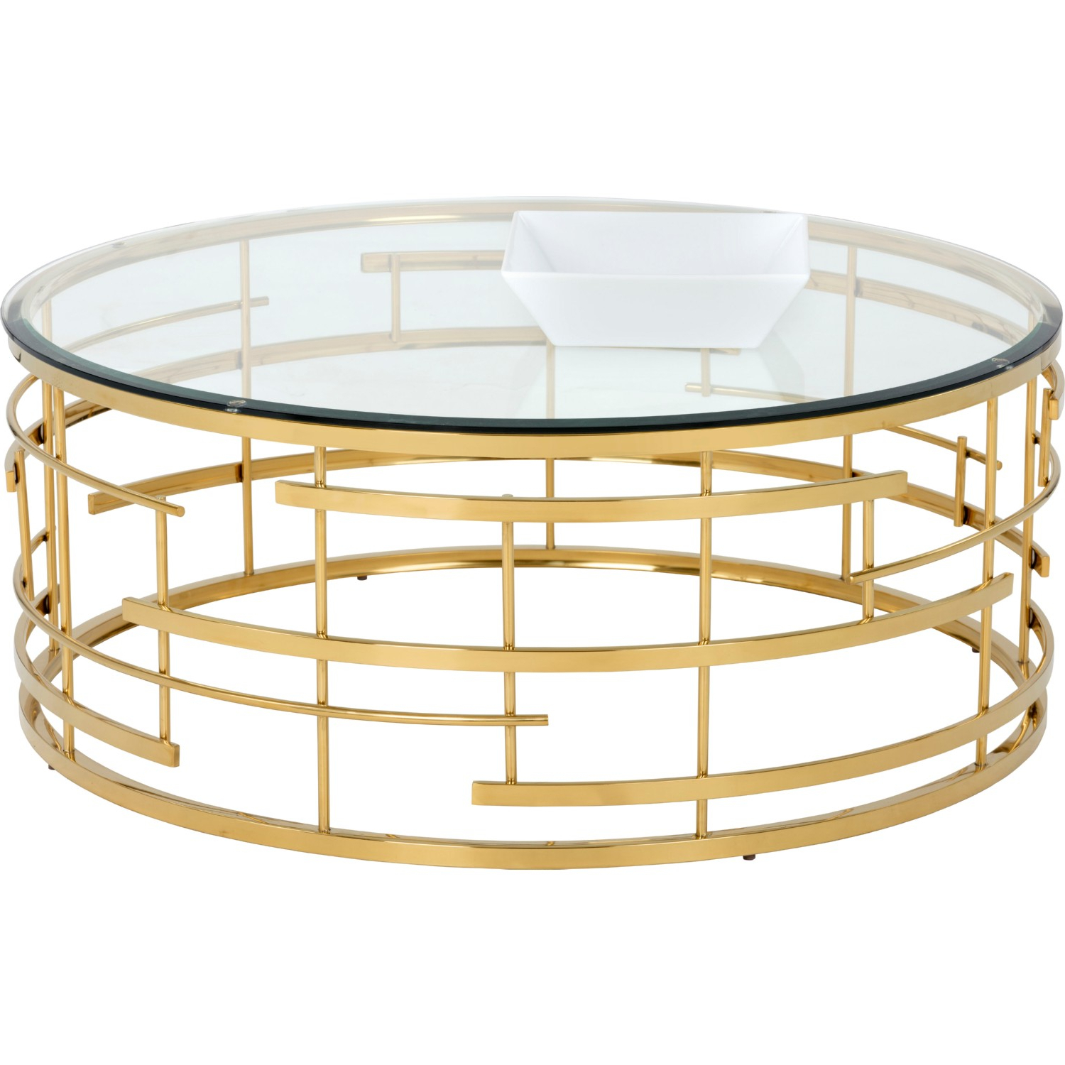 Well Liked Madison Park Susie Coffee Tables 2 Color Option In Sunpan Cielo Coffee Table Round Glass Top On Gold Metal Base (View 19 of 20)