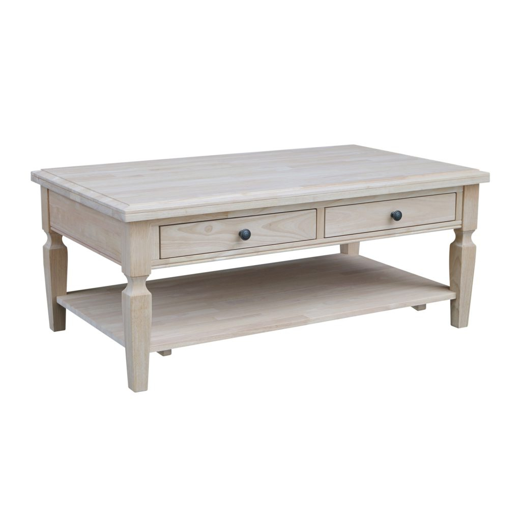 Well Liked Shaker Unfinished Solid Parawood Tall Coffee Tables In Coffetable ~ Phenomenal Unfinished Coffee Table Ot Vista W (View 10 of 20)